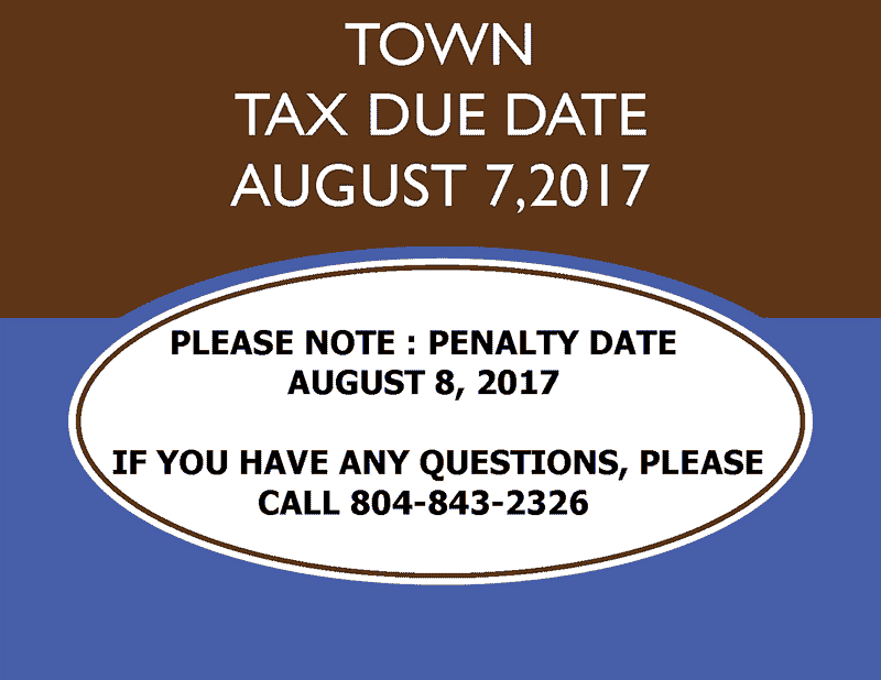 West Point tax due date is august 7, 2017